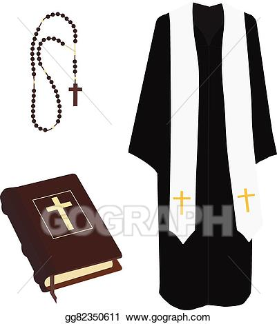 svg royalty free Vector costume cross. Art bible rosary beads