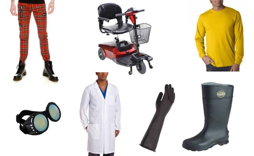 svg free stock Vector costume doctor nefario. Dr carbon boards halloween