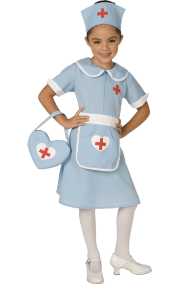 vector library download Vector costume fancy dress. Kids classic nurse uniform
