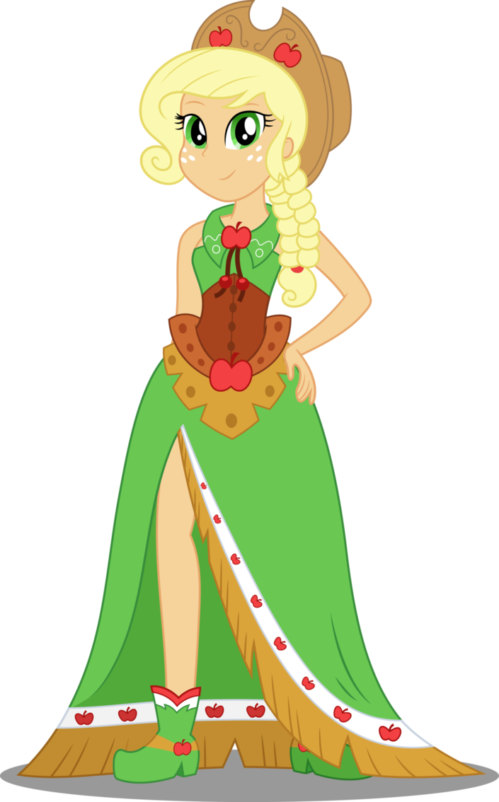 clipart free stock Eqg applejack by icantunloveyou. Vector costume gala