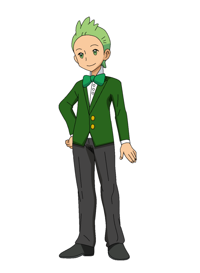 png freeuse library PKMN anime artwork Cilan Dark Green Tuxedo Fanmade by Aquamimi