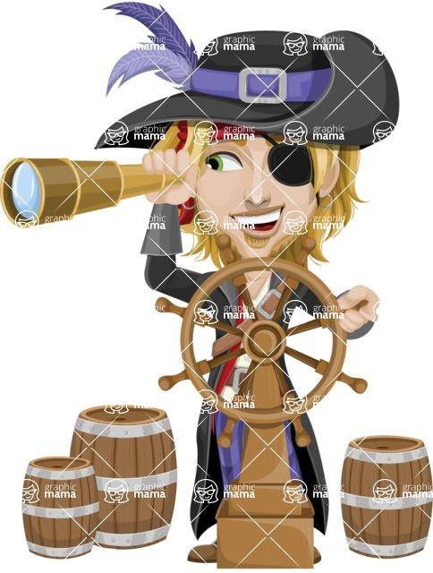 clip library library Vector costume man glass. Slim male pirate graphic