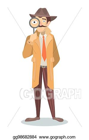 svg transparent Illustration detective with stock. Vector costume man glass