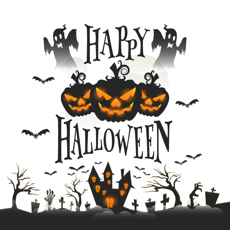 svg black and white Halloween trick or treating. Vector costume party