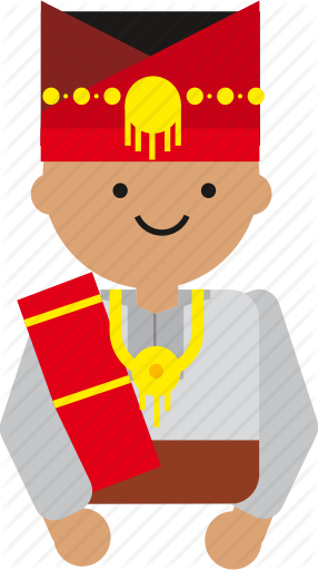 svg black and white download Vector costume person indonesian. People culture by moonday