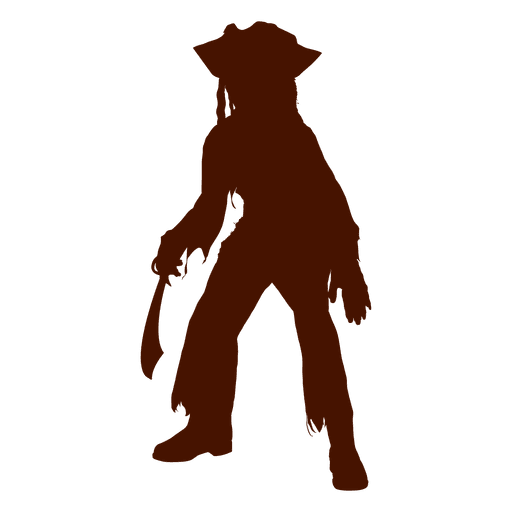 image freeuse library Vector costume pirate. Halloween child silhouette transparent