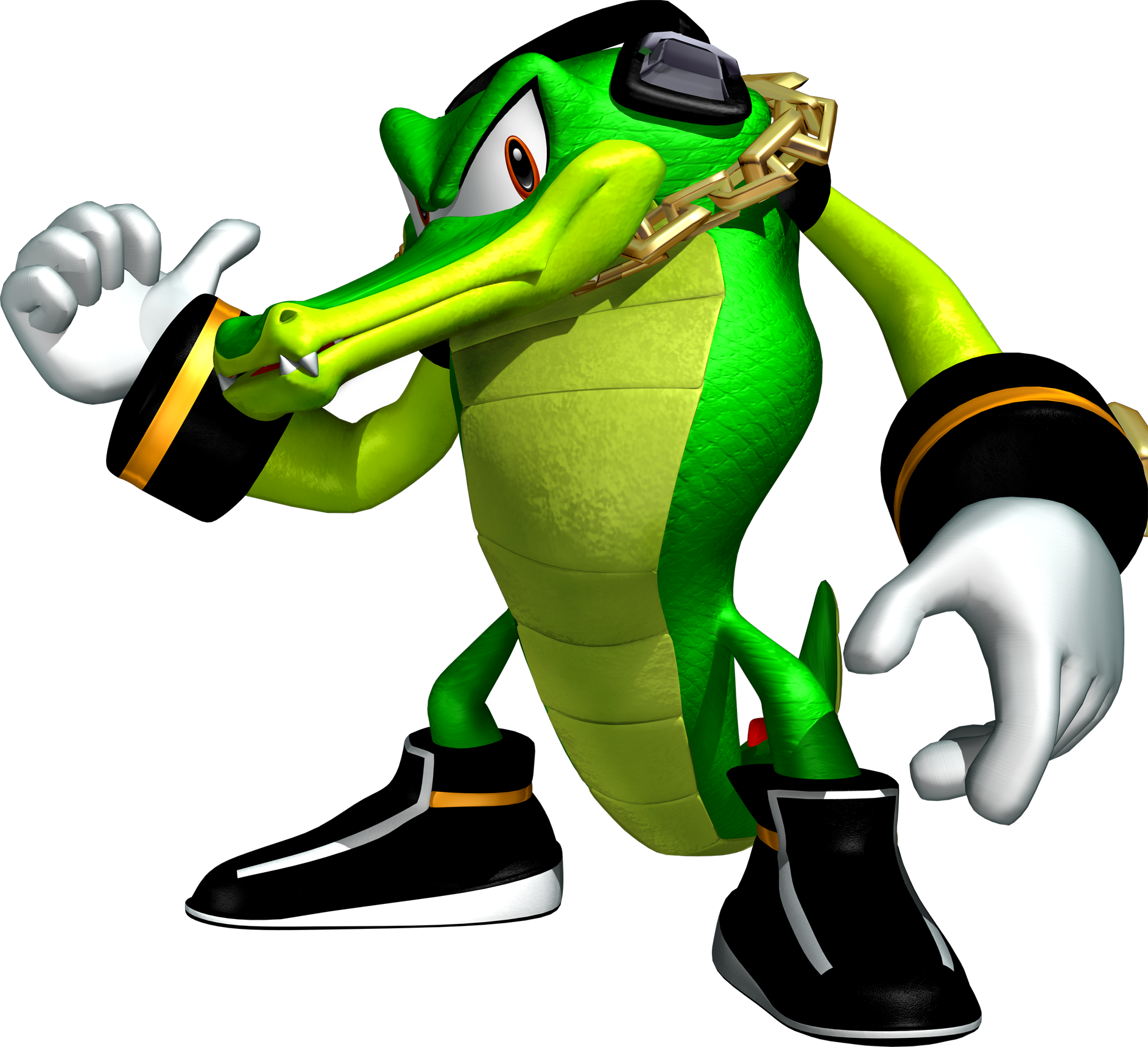 banner black and white Vector costume sonic. The crocodile is a