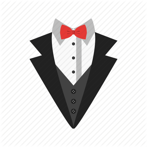 jpg free stock Birthday flat colorful by. Vector costume suit bow tie