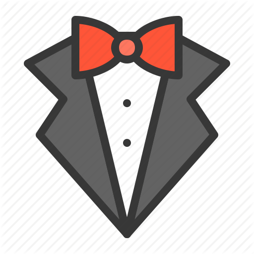 image black and white Wedding filled by icon. Vector costume suit bow tie