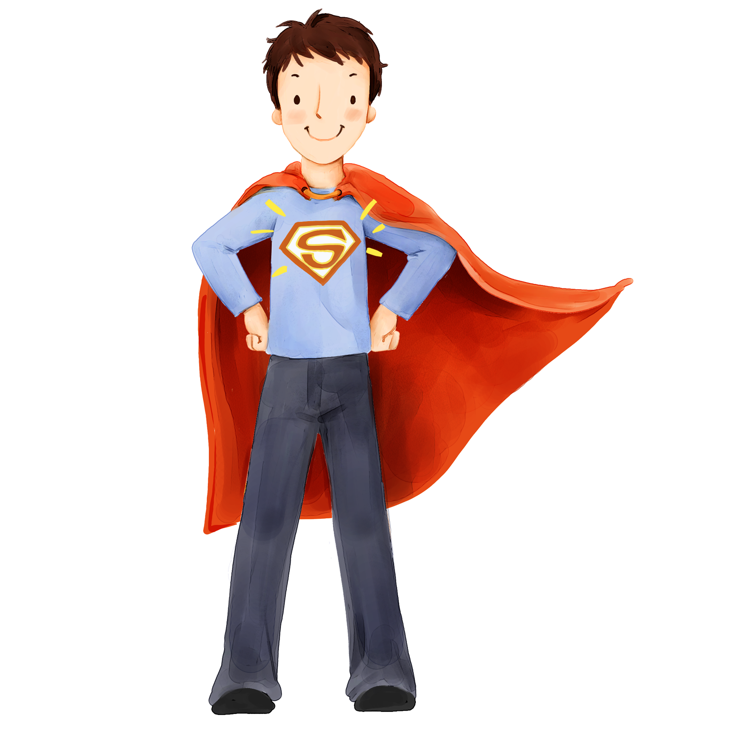 jpg royalty free download Fathers day son men. Vector costume superhero boy