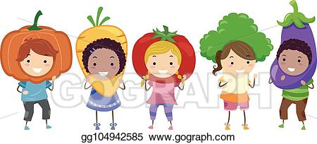 png black and white download Art stickman kids illustration. Vector costume vegetable