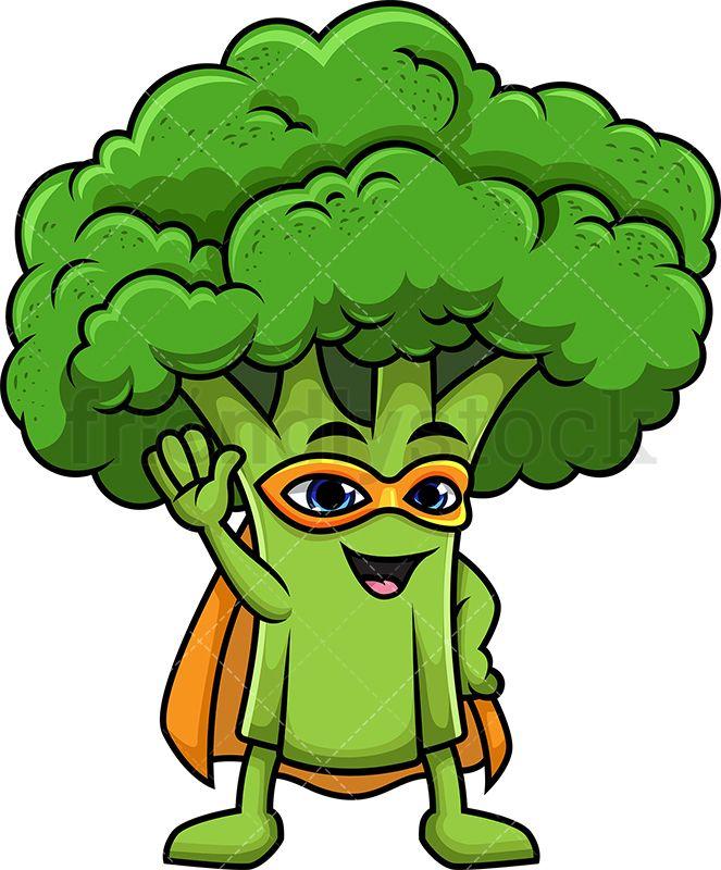 clip transparent stock Vector costume vegetable. Broccoli superhero ambalaj cartoon