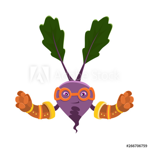 clipart transparent Vector costume vegetable. Funny cartoon character beet