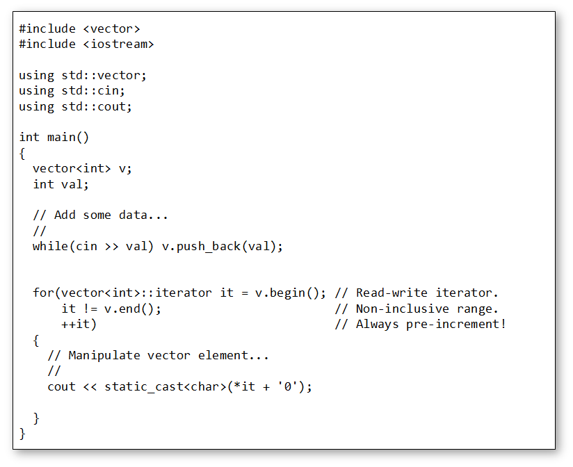 png black and white Vector cplusplus loop. Bitesize modern c range