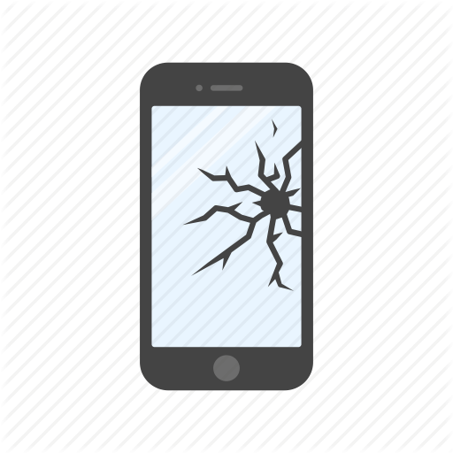 clip freeuse download Vector cracks crack screen. Smartphone states vol flat