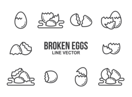 free Cracked Egg Vectors