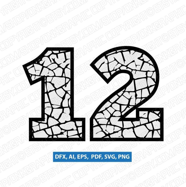 clip royalty free library Cracked crack numbers printable. Vector cracks drought