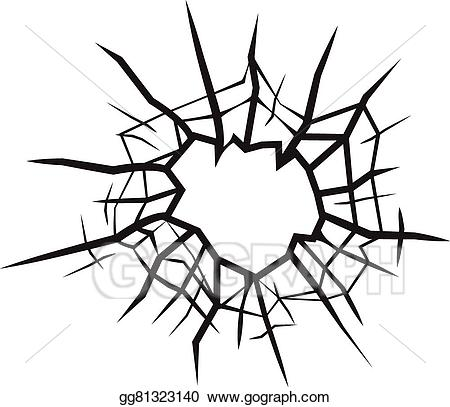 banner free download Vector cracks glass crack. Illustration hole in cracked