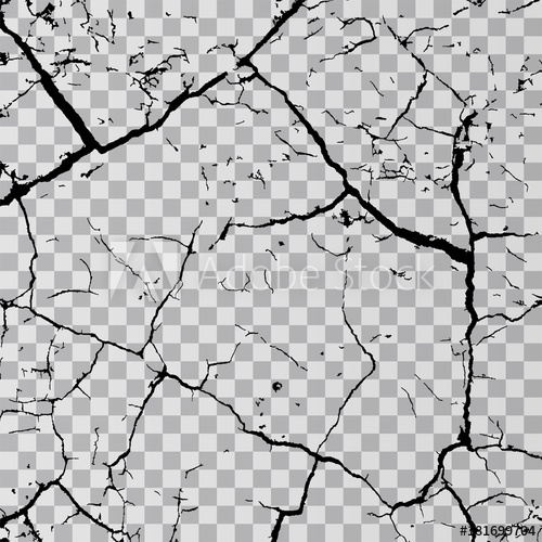 picture freeuse library Vector cracks ground breaking. Wall isolated on transparent