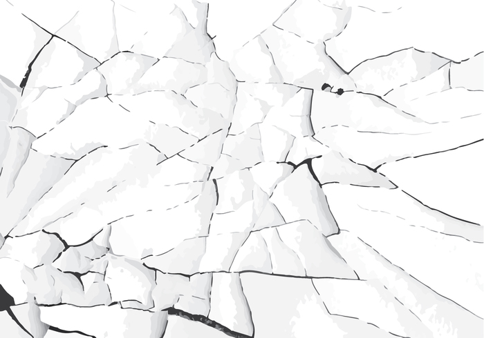 image black and white stock White cracked paint vector