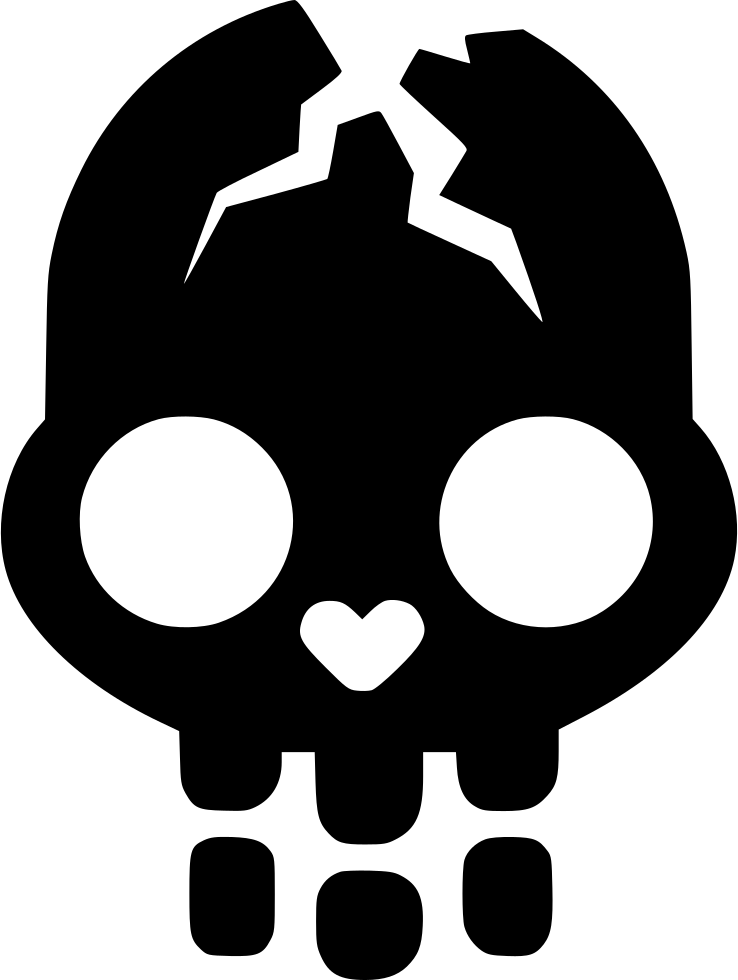 transparent library Cracked Skull Svg Png Icon Free Download