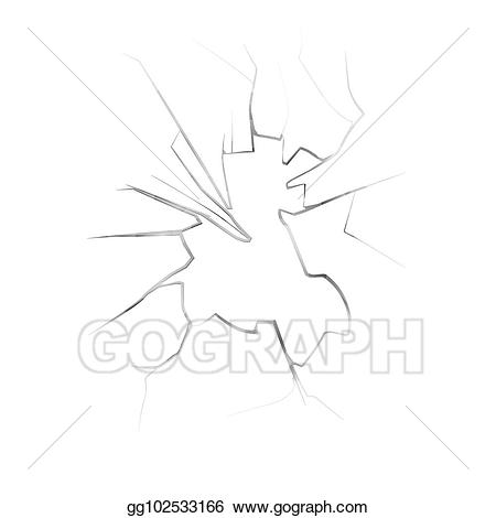 picture freeuse stock Vector cracks smashed. Clipart on broken window