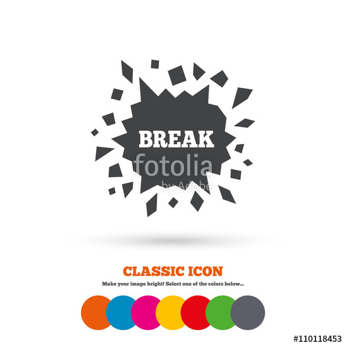 vector royalty free Break it cracked hole. Vector cracks smashed