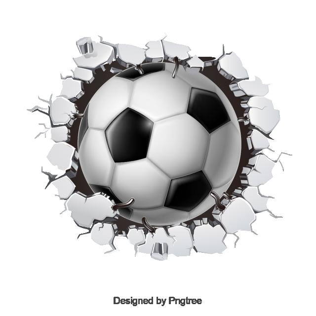clip free library Vector cracks template. Soccer wall crack ball