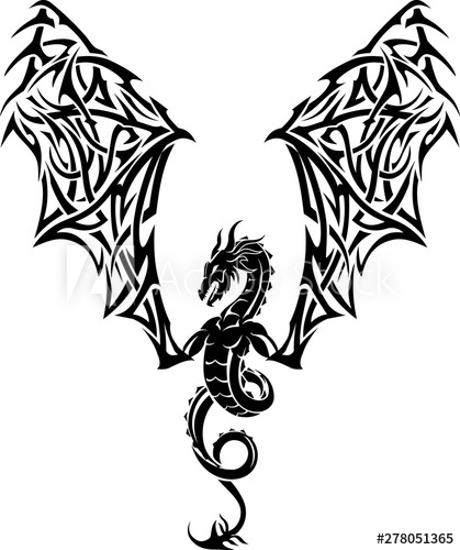 image free Vector crest abstract. Dragon tattoo buy this