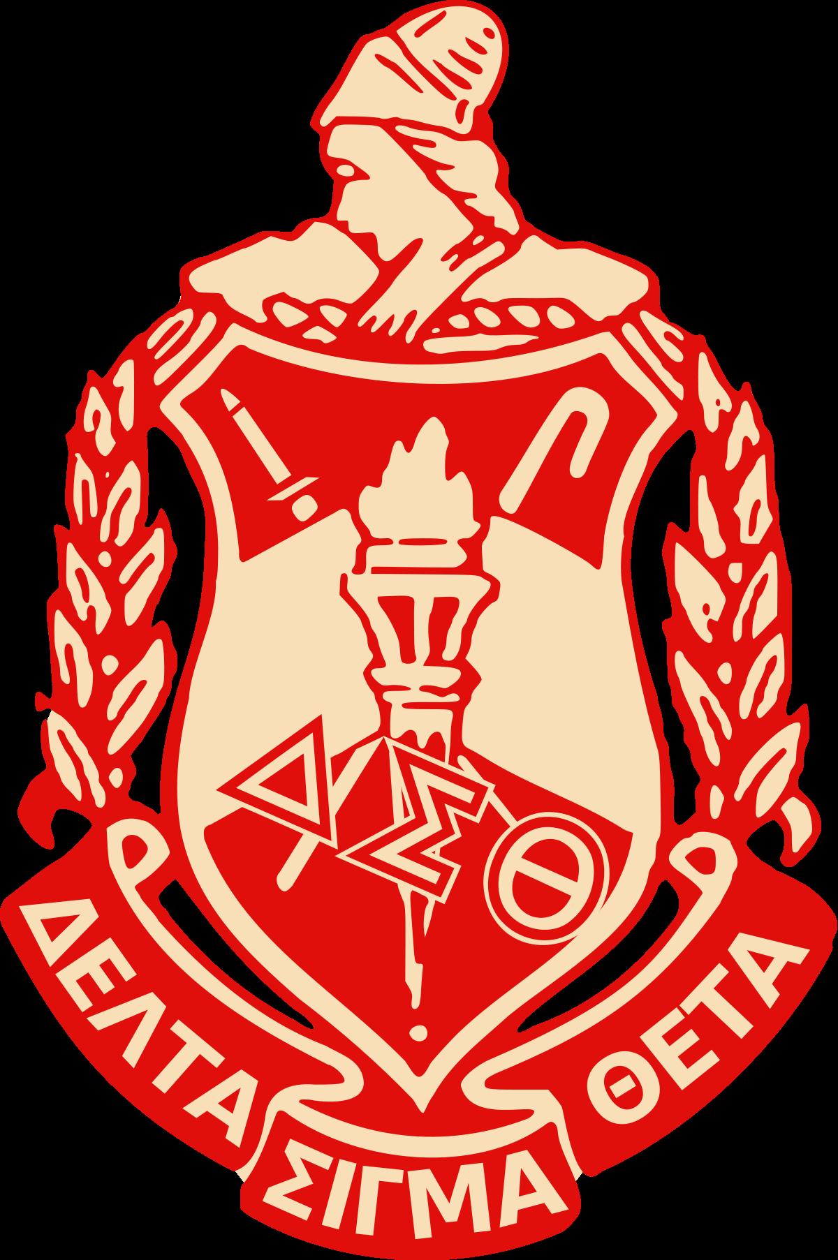 graphic black and white download Vector crest anniversary. Delta sigma theta wikipedia