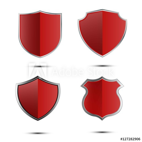jpg download Vector crest armor. Set of red shield