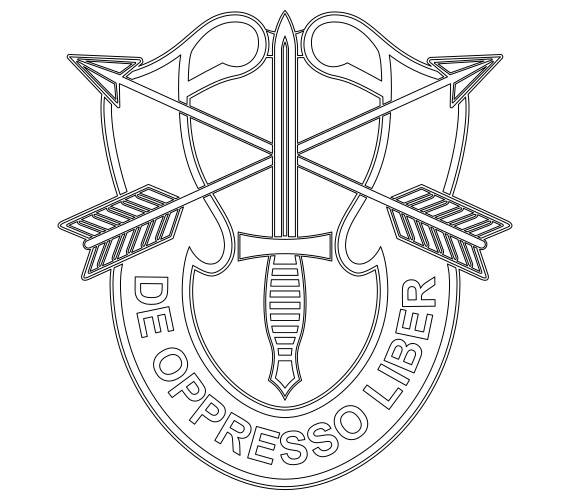 jpg freeuse library Us special forces unit. Vector crest army