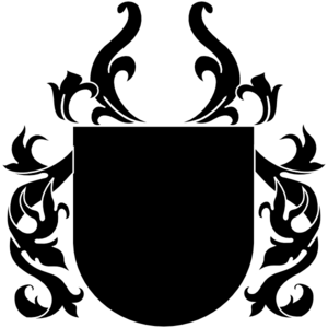 banner black and white library Vector crest black and white. Clip art at clker