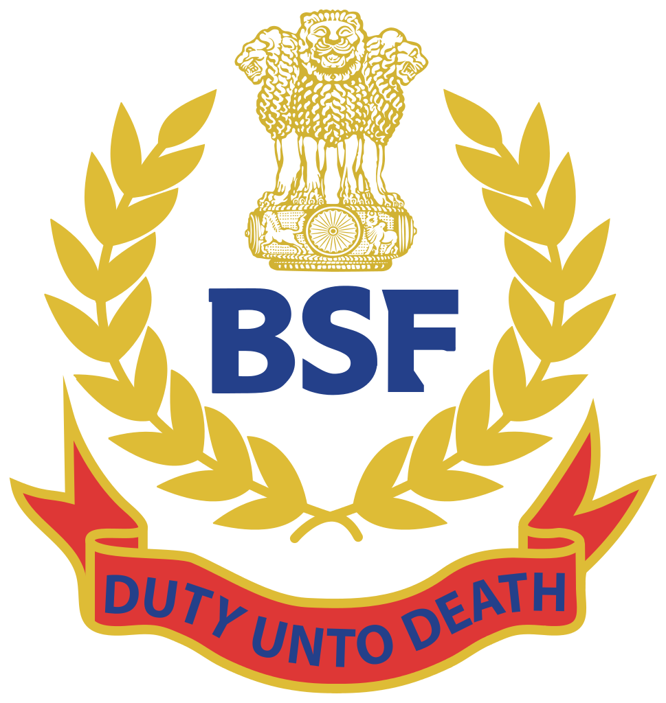 vector library stock Security force bsf recruitment. Vector crest border