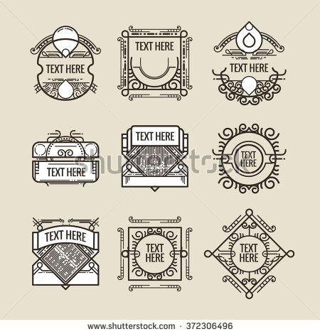 image royalty free Vector crest border. Classic art deco luxury