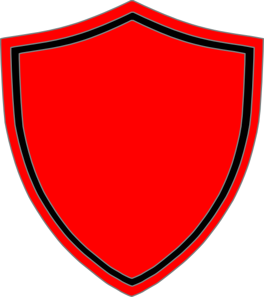 png free Red shield with black. Vector crest border