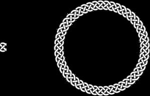 clip black and white library  plait border circle. Vector crest circular