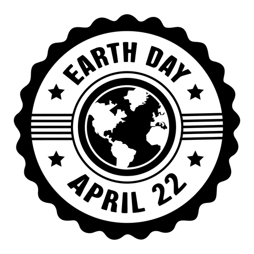 graphic freeuse library Star round earth day label