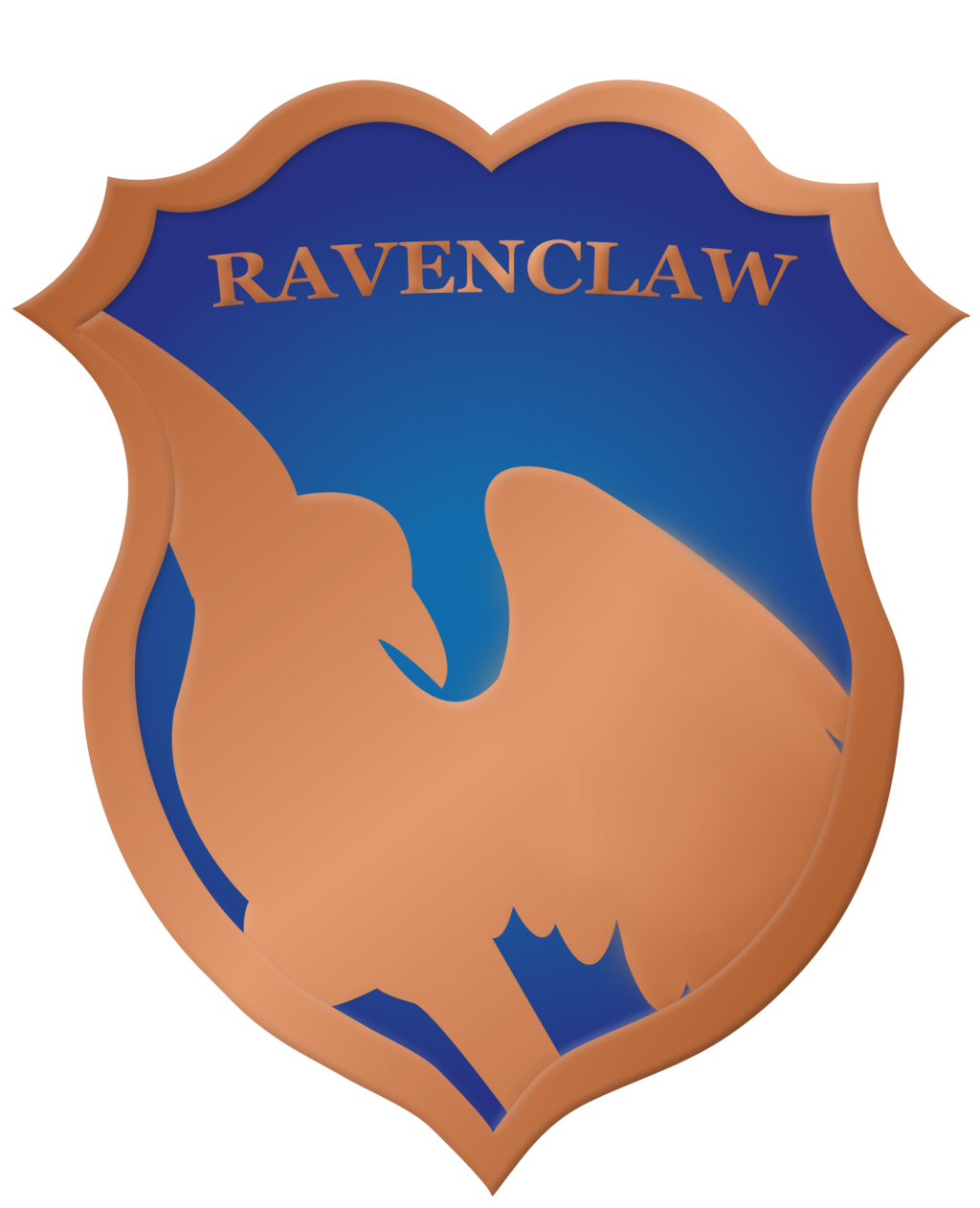 graphic transparent download Vector crest clipart. Ravenclaw badge by rainbowrenly