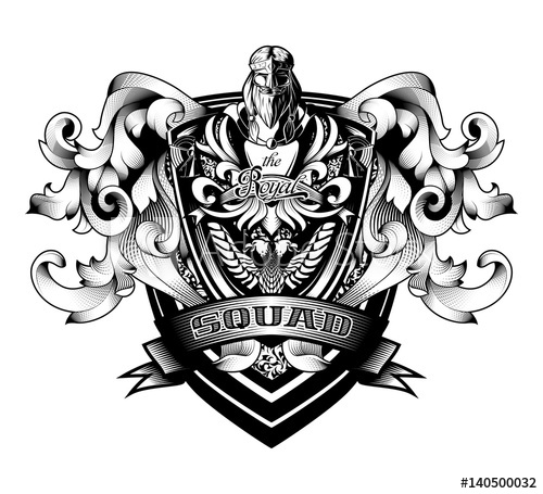 clip freeuse library Ornamental baroque heraldry arms. Vector crest coat arm