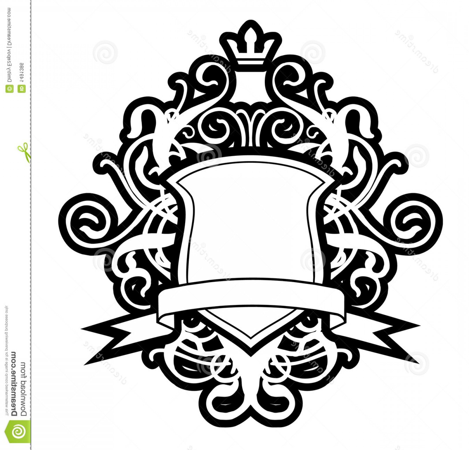graphic transparent Vector crest coat arm. Royalty free stock image