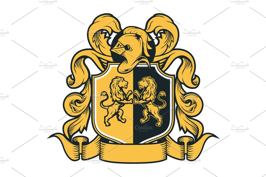 vector library stock Royal of arms . Vector crest coat arm