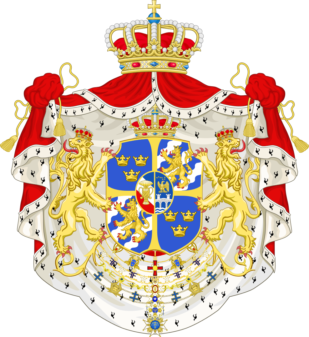 vector library library Vector crest element. King of sweden from