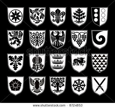 banner royalty free download Vector crest family. Crests stock swords