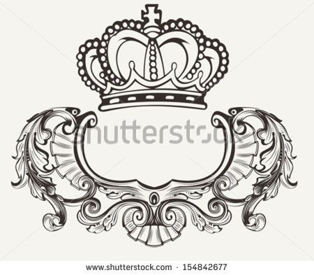 vector black and white stock Stock images similar to. Vector crest fancy