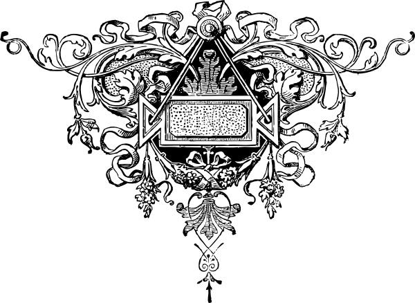 image transparent download Vector crest fancy. Flourish clip art free