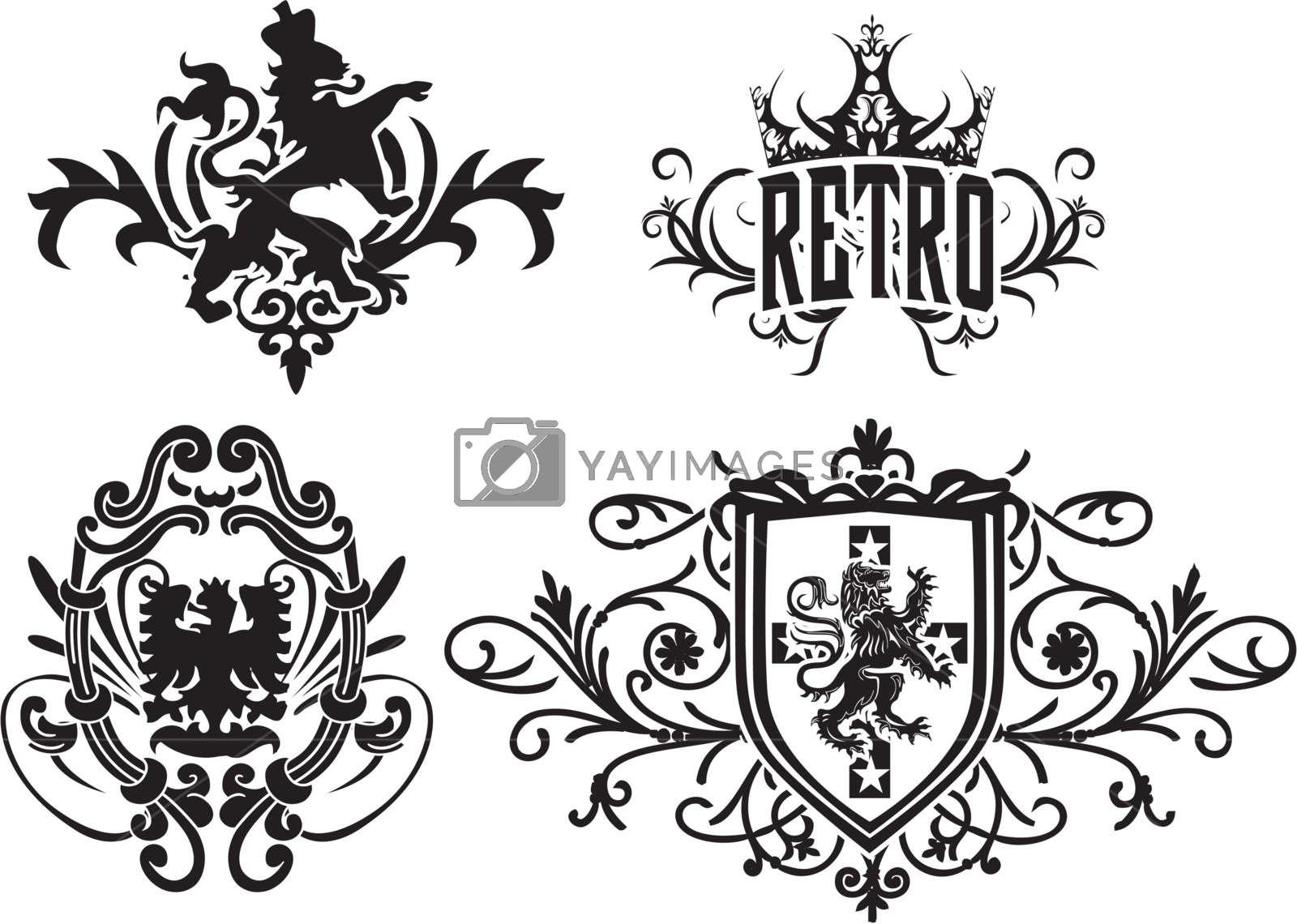 svg freeuse Vector crest fancy. Shield design stock image