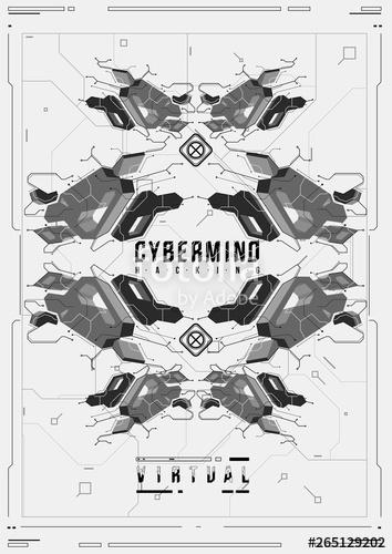 image freeuse library Vector crest futuristic. Cyberpunk poster retro