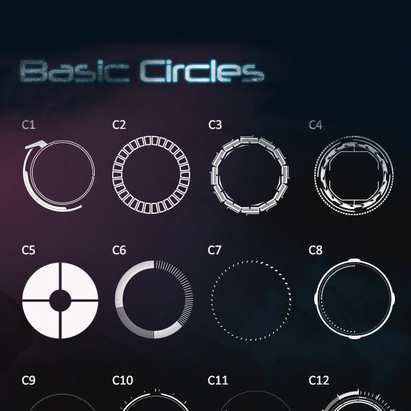 transparent stock Photoshop shapes from graphicriver. Vector crest futuristic