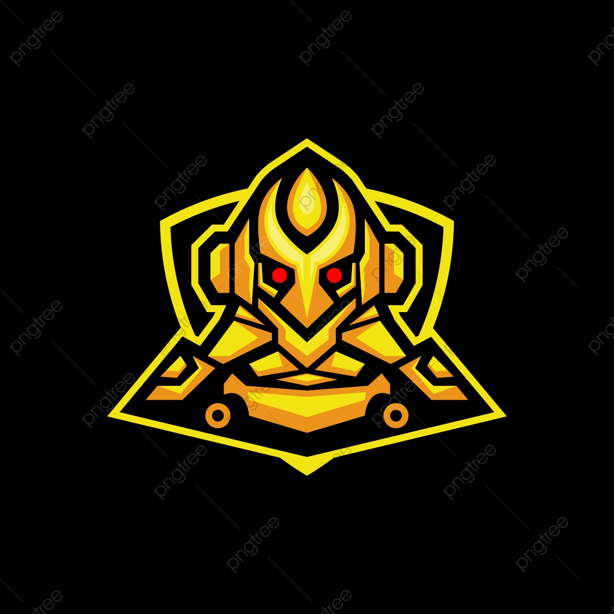 clip royalty free download Vector crest futuristic. Yellow cyborg esport gaming